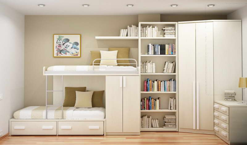 White Bedroom Storage
