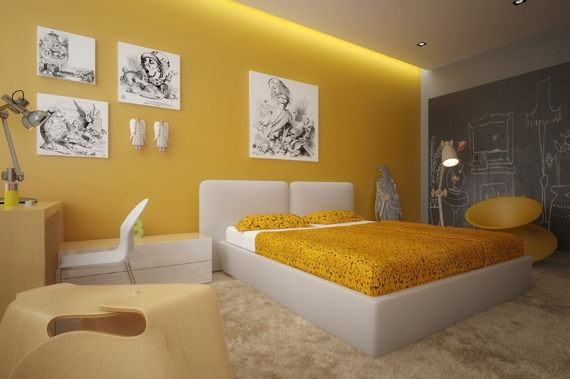 Yellow and White Bedroom Ideas