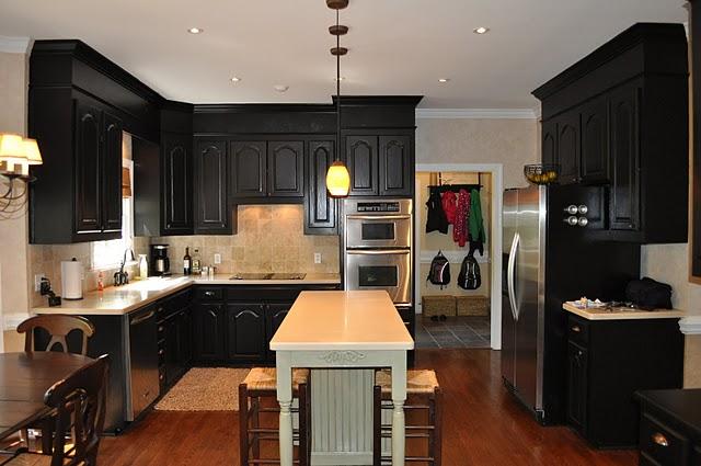 Antique Black Kitchen Cabinets