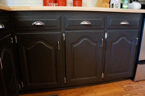 Black Kitchen Cabinet Doors