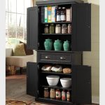 Black Kitchen Storage Cabinet