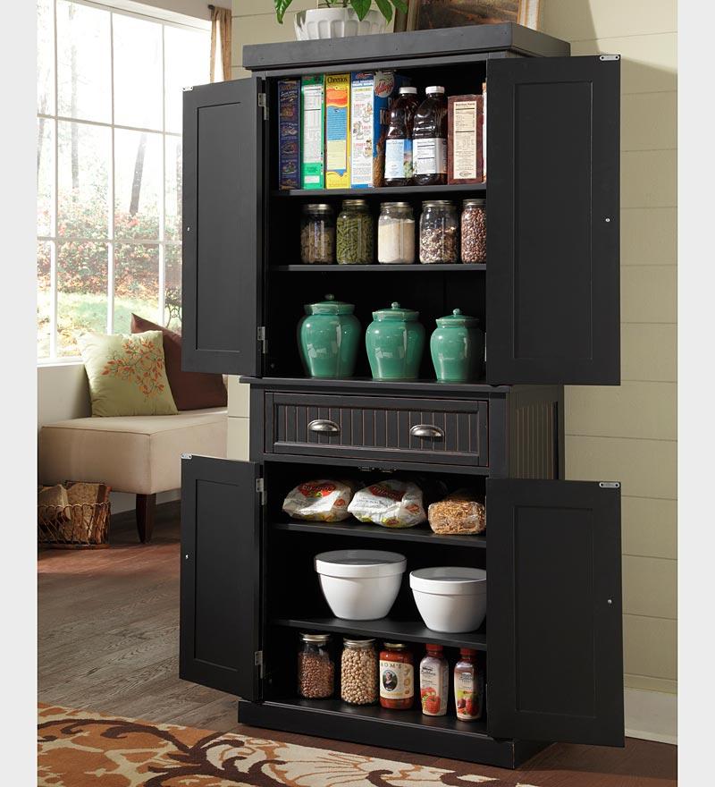 Black Kitchen Storage Cabinet