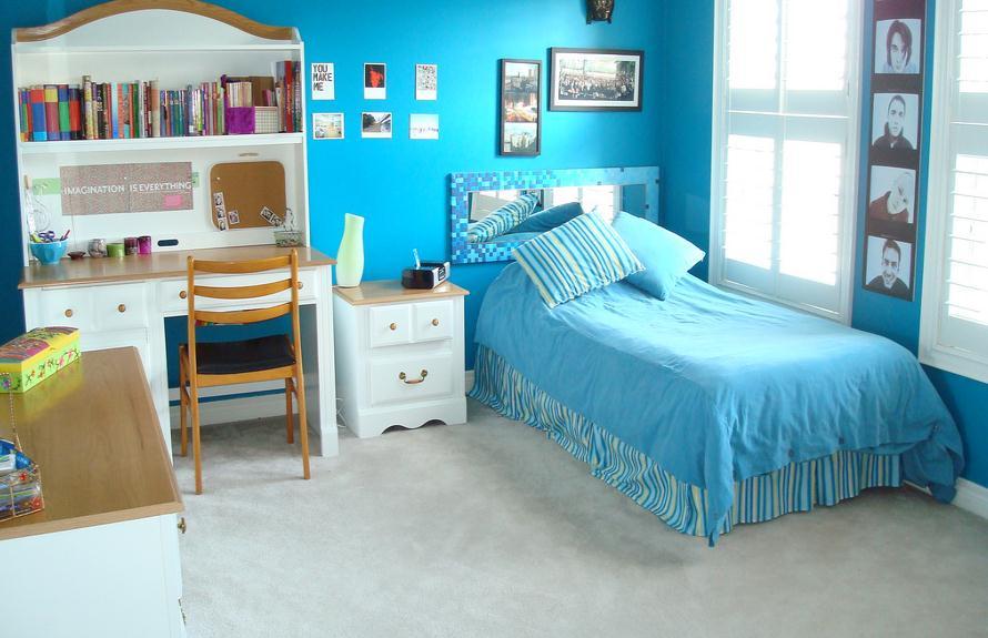 Blue Teenage Girl Bedroom Ideas