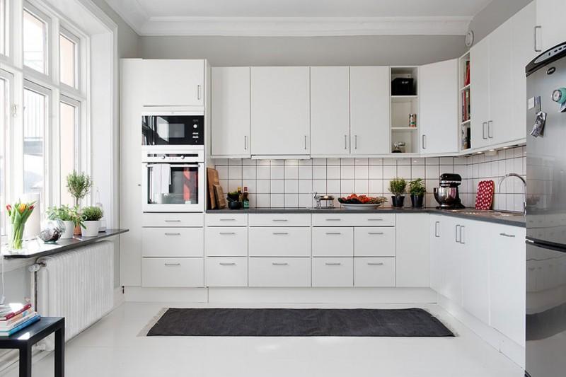 Contemporary White Kitchen Cabinets