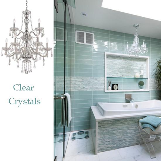 Crystal Bathroom Lighting Fixtures