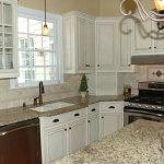 Glazed White Kitchen Cabinets