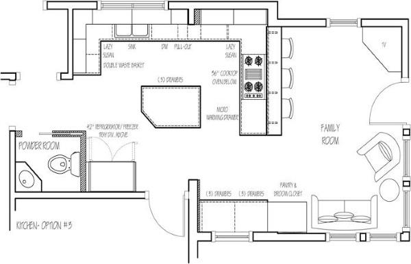 Kitchen Remodeling Floor Plans