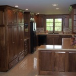 Modern Black Walnut Kitchen Cabinets