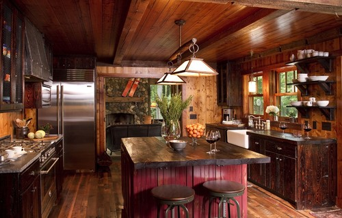 Rustic Kitchen Island Lighting