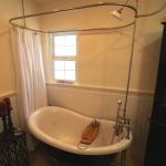 Shower Curtain Rod for Clawfoot Tub