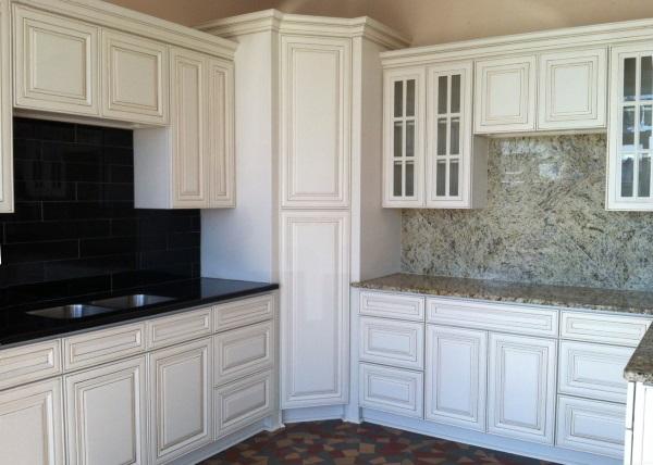 White Corner Kitchen Cabinet