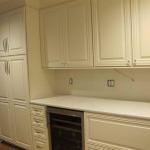 White Kitchen Cabinets with Glaze