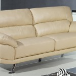 2 Seater Cream Leather Sofa