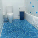 Blue Bathroom Floor Tiles