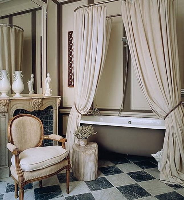 Clawfoot Bathtub Shower Curtain