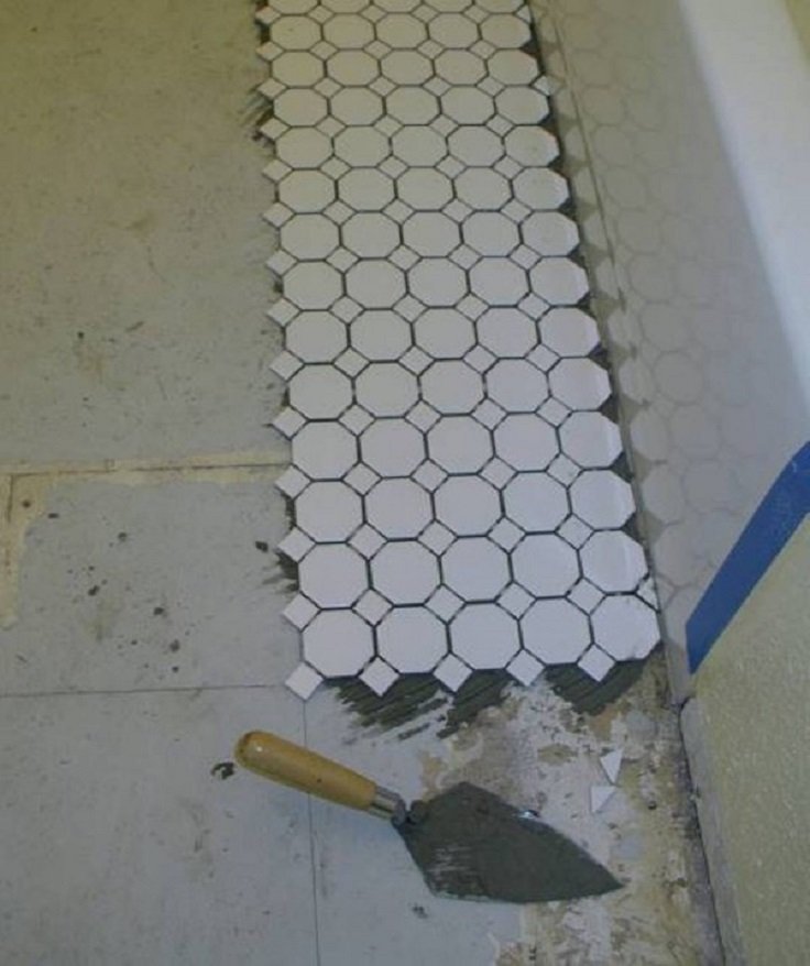 DIY Bathroom Floor Tile