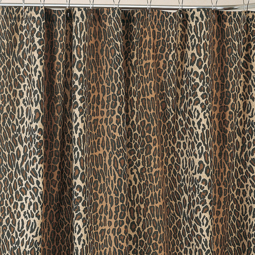 Leopard Shower Curtain Set