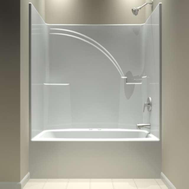 One Piece Bathtub Shower Unit