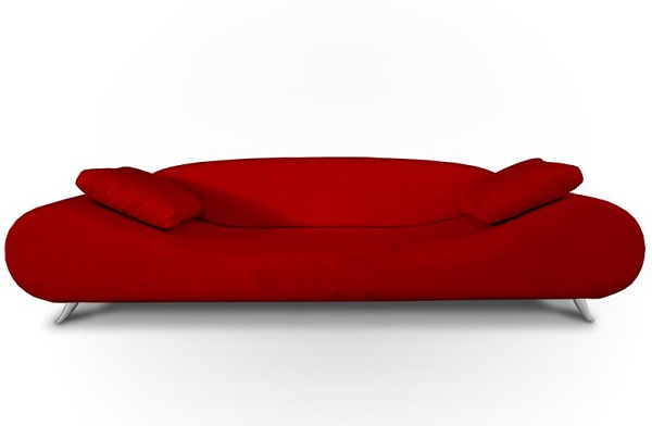 Red Contemporary Sofa