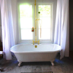 Shower Curtain Rod for Clawfoot Bathtub