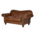 Small 2 Seater Leather Sofa