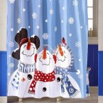 Snowman Shower Curtain Set