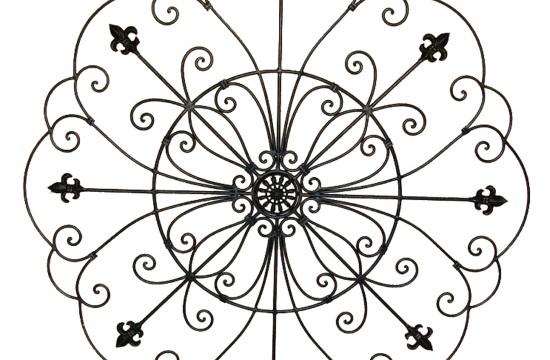 Wrought Iron Fleur de lis Home Decor