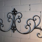 Wrought Iron Fleur de lis Wall Decor