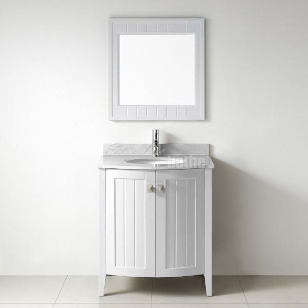 30 White Bathroom Vanity with Drawers