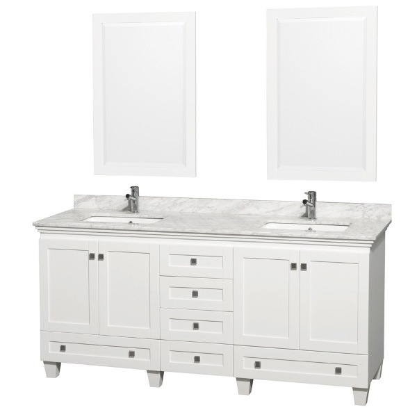 72 White Bathroom Vanity