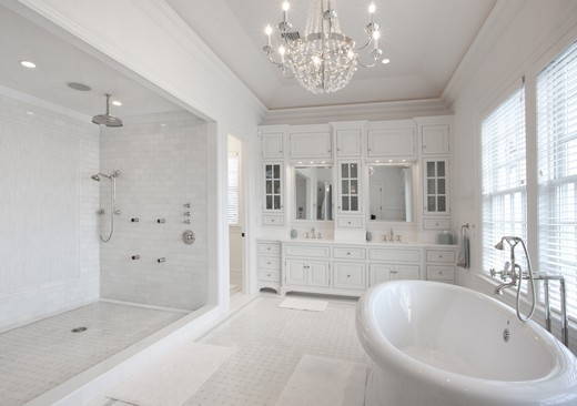 All White Bathroom Pictures - Decor Ideas
