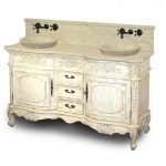 Antique White Bathroom Vanity Set