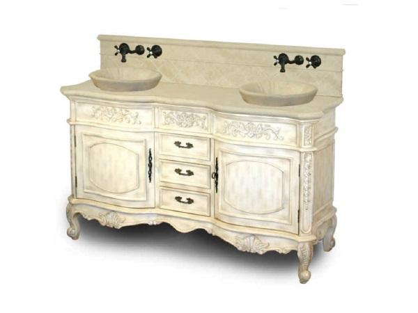 Antique White Bathroom Vanity Set