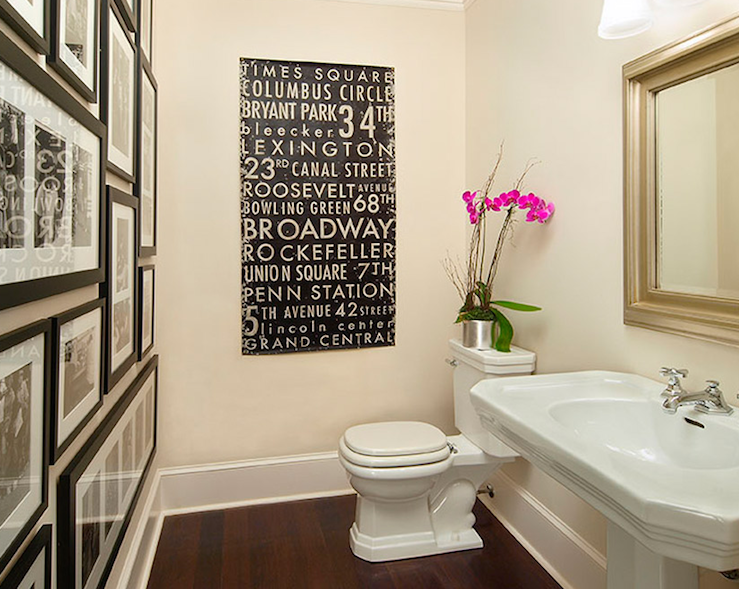 Black and White Bathroom Art