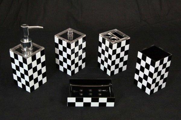 Black and White Bathroom Sets