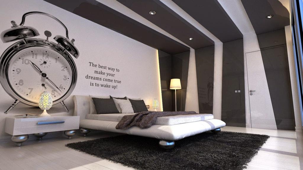 Black and White Bedroom Wallpaper