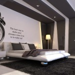Black and White Bedroom Wallpaper