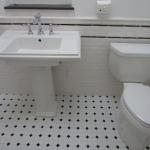 Black and White Subway Tile Bathroom