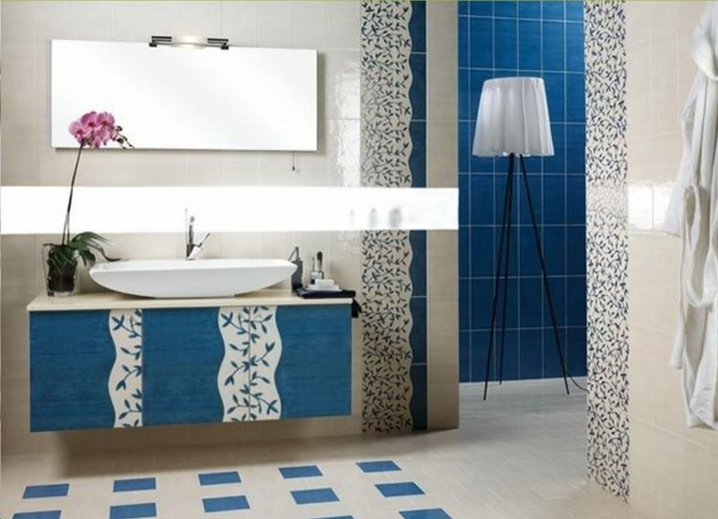 Blue and White Bathroom Designs
