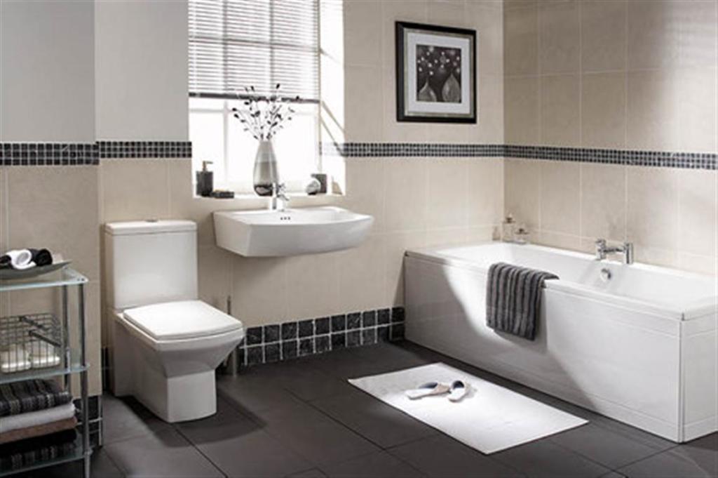 Cheap White Bathroom Suite
