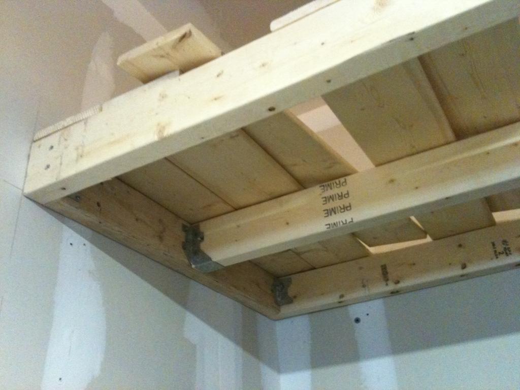 DIY Heavy Duty Garage Shelves