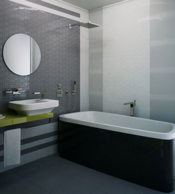 Gray Black and White Bathroom Images