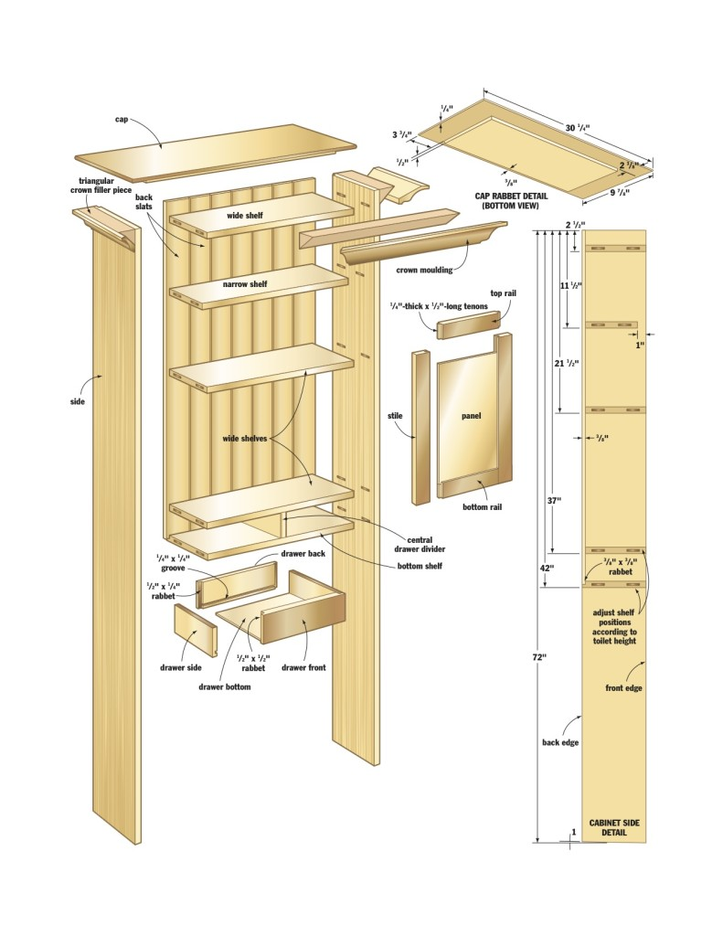 Large Bathroom Wall Cabinets Plans