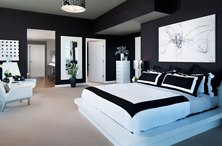 Modern Black and White Bedroom Designs