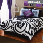 Purple Black and White Bedroom Ideas