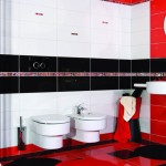 Red Black and White Bathroom Ideas
