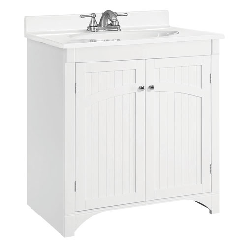 White Bathroom Vanity without Top