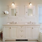 White Beadboard Bathroom Vanity
