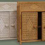 Wicker Bathroom Wall Cabinet