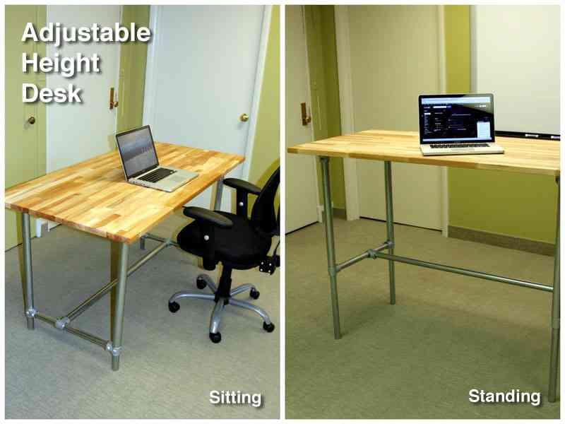Adjustable Sitting Standing Desk